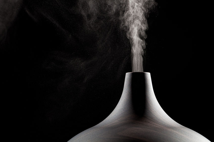 Close up of an aromatherapy oil diffuser in use
